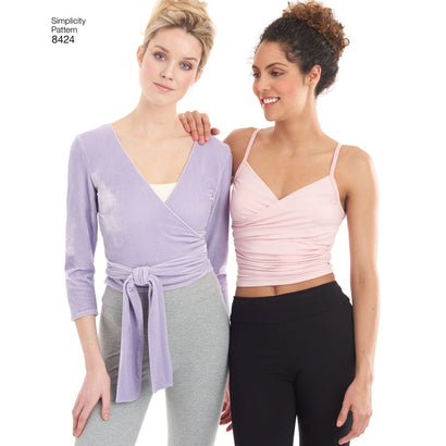 Simplicity Pattern S8424 Misses' Knit Leggings in 2 Lengths & Three Top Options