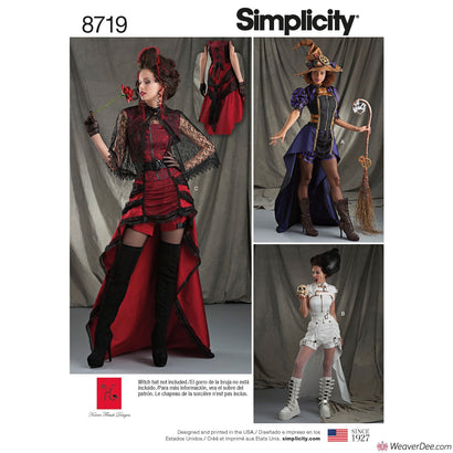 Simplicity Pattern S8719 Misses' Vampish Halloween Costumes