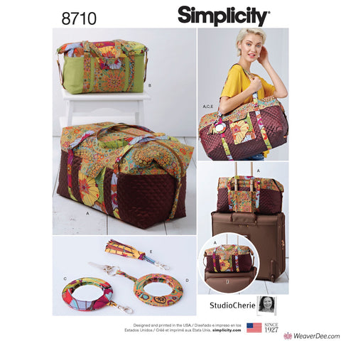 Simplicity Pattern S8710 Luggage Bags, Key Ring & Tassel