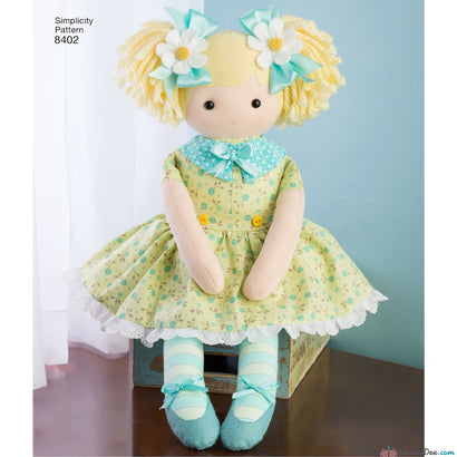 "Simplicity Pattern S8402 23"" Stuffed Dolls with Clothes"