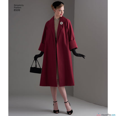 Simplicity Pattern S8509 Misses' Vintage 1950s Coat or Jacket