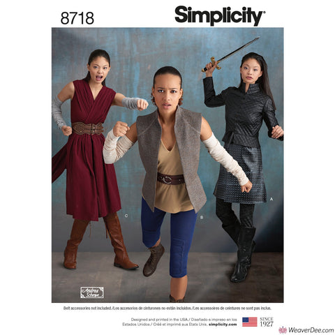 Simplicity Pattern S8718 Misses' Warrior Costumes