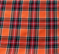 WeaverDee - Polyviscose Tartan Fabric / Sienna Flame - WeaverDee.com Sewing & Crafts - 1