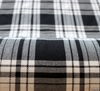 WeaverDee - Polyviscose Tartan Fabric / Menzies (Black & White) - WeaverDee.com Sewing & Crafts - 2