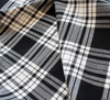 WeaverDee - Polyviscose Tartan Fabric / Menzies (Black & White) - WeaverDee.com Sewing & Crafts - 4