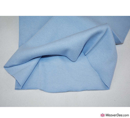 Tubular Ribbing Cotton Fabric - Baby Blue