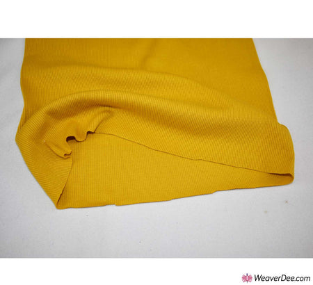 Tubular Ribbing Cotton Fabric - Mustard