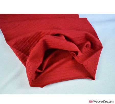 Tubular Ribbing Cotton Fabric - Red