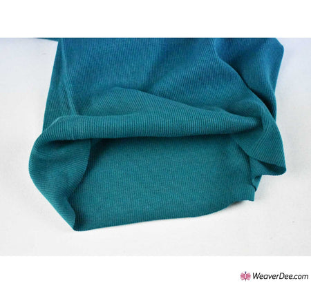Tubular Ribbing Cotton Fabric - Teal
