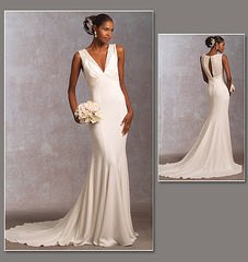 Vogue - V1032 Misses' Wedding Dress | Average - WeaverDee.com Sewing & Crafts - 1