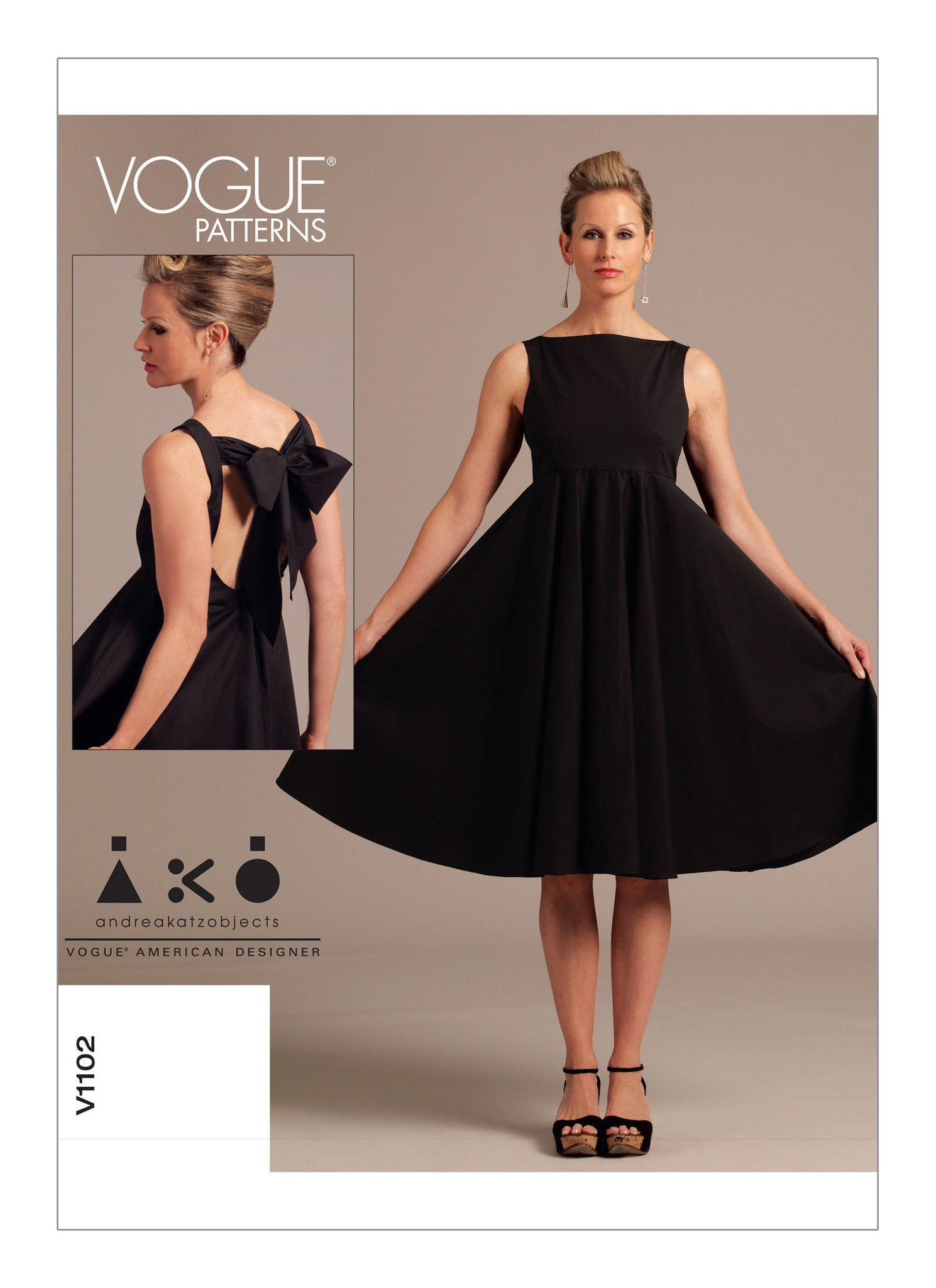 Vogue - V1102 Misses' Dress | Easy | by AKO - WeaverDee.com Sewing & Crafts - 1