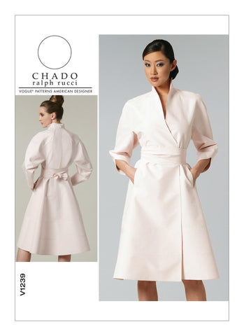 Vogue - V1239 Misses' Dress & Belt - by Chado Ralph Rucci - WeaverDee.com Sewing & Crafts - 1