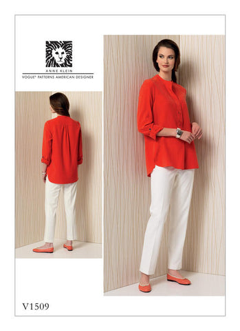 Vogue - V1509 Misses' Banded Tunic with Yoke & Tapered Pants - WeaverDee.com Sewing & Crafts - 1