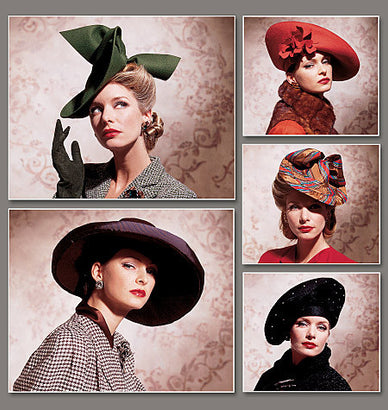 Vogue - V7464 Vintage Hats | 1930s - WeaverDee.com Sewing & Crafts - 1