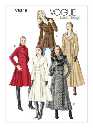Vogue Pattern V8346 Misses' Coat | Easy