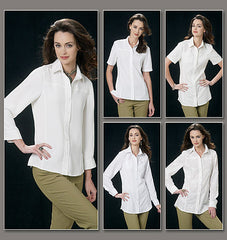 Vogue - V8689 Misses' Shirt | Easy | Custom Fit - WeaverDee.com Sewing & Crafts - 1
