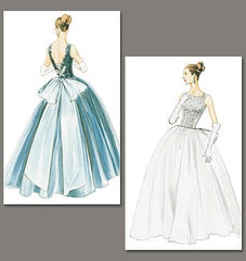 Vogue - V8729 Misses' Wedding Dress and Underskirt | Advanced | Vintage 1950s - WeaverDee.com Sewing & Crafts - 1