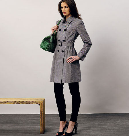 Vogue - V8884 Misses' Coat and Belt | Average - WeaverDee.com Sewing & Crafts - 1