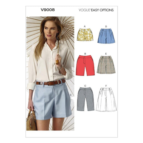 Vogue - V9008 Misses' Shorts | Easy - WeaverDee.com Sewing & Crafts - 1