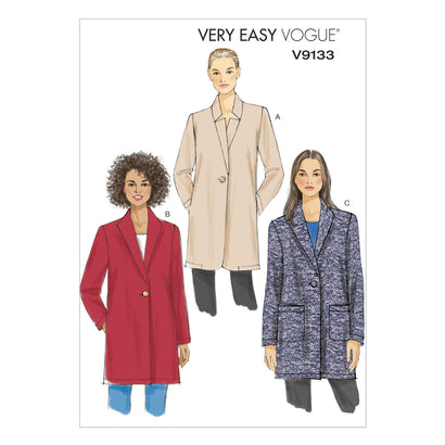 Vogue - V9133 Misses' Jacket | Very Easy - WeaverDee.com Sewing & Crafts - 1