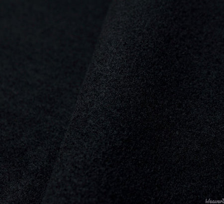 WeaverDee - Coating Fabric - Washable Melton / 150cm / Black - WeaverDee.com Sewing & Crafts - 1