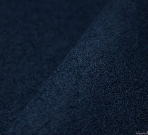 WeaverDee - Coating Fabric - Washable Melton / 150cm / Navy Blue - WeaverDee.com Sewing & Crafts - 1