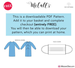 FREE PDF DOWNLOAD: McCall's Pattern M8170 Medical Gown & M8169 Mask