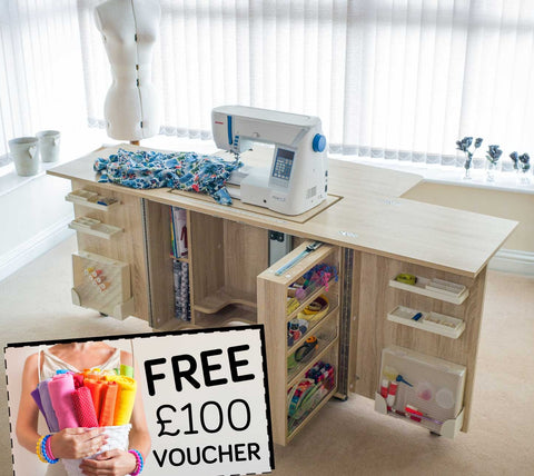 Horn Gemini XL 2012 Sewing Machine Cabinet + FREE £100 VOUCHER