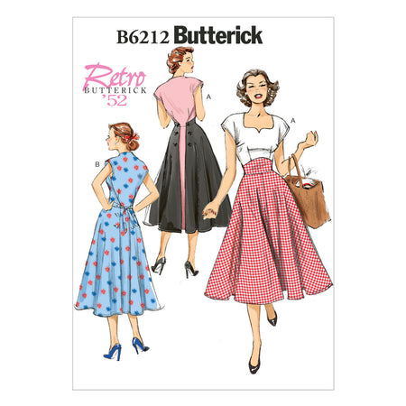 Butterick - B6212 Misses Vintage 1950s Dress - WeaverDee.com Sewing & Crafts - 1
