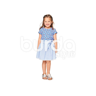 Burda Pattern BD9364 Child Shirt & Elastic Skirt