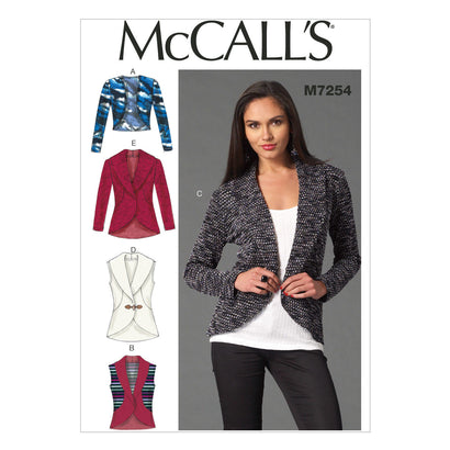 McCall's Pattern M7254 Misses' Cardigans | Easy