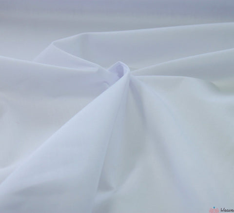 WeaverDee - Poly Cotton Fabric / White - WeaverDee.com Sewing & Crafts - 1