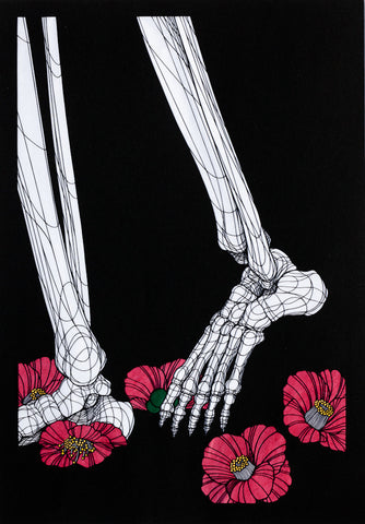 Lost (Skeleton Feet & Camellias)