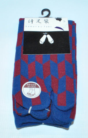 Samurai Tabi Socks - Arrow Feather Pattern