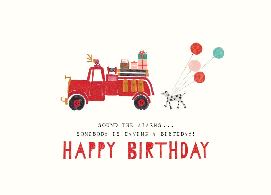 Little Fireboy's Birthday Greeting Card