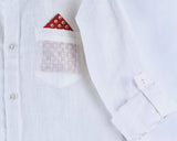 Breezy Linen White Longsleeve Button Down