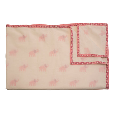 Organic Cotton Elephant Stroller Blanket