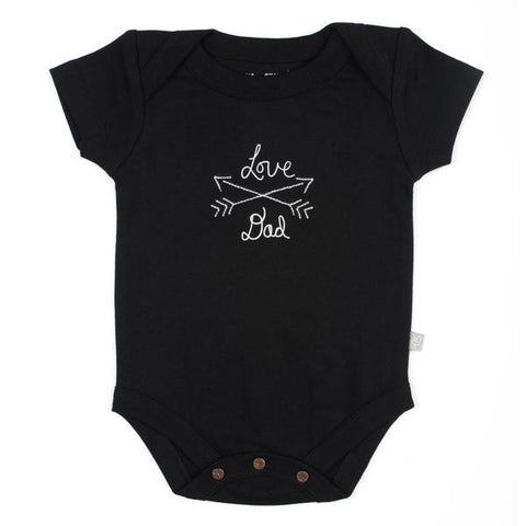 Love Dad Black Lap Shoulder Bodysuit