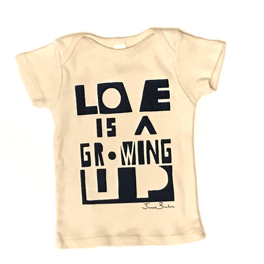 Love is a Growing Up Lap Tee