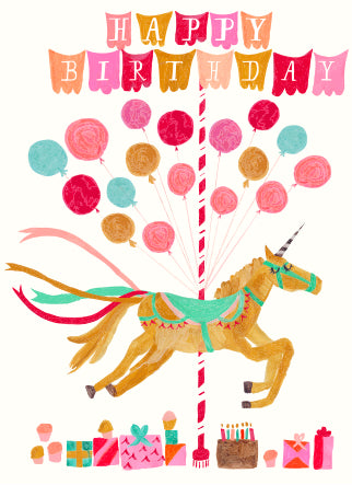 Is Unicorn Coming to my Party? Birthday Greeting Card