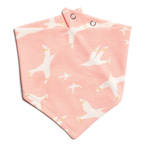 Skybirds Blush Pink Kerchief Bib