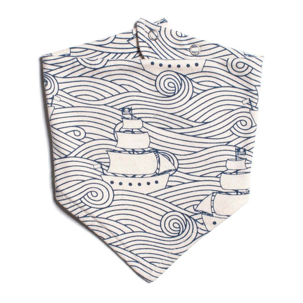 Navy High Seas Kerchief Bib