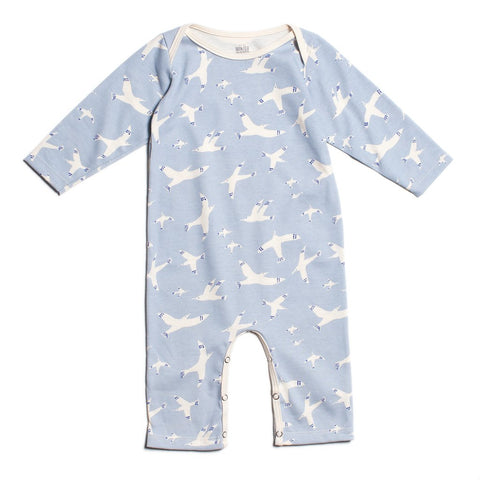 Skybirds Blue Long-Sleeve Romper
