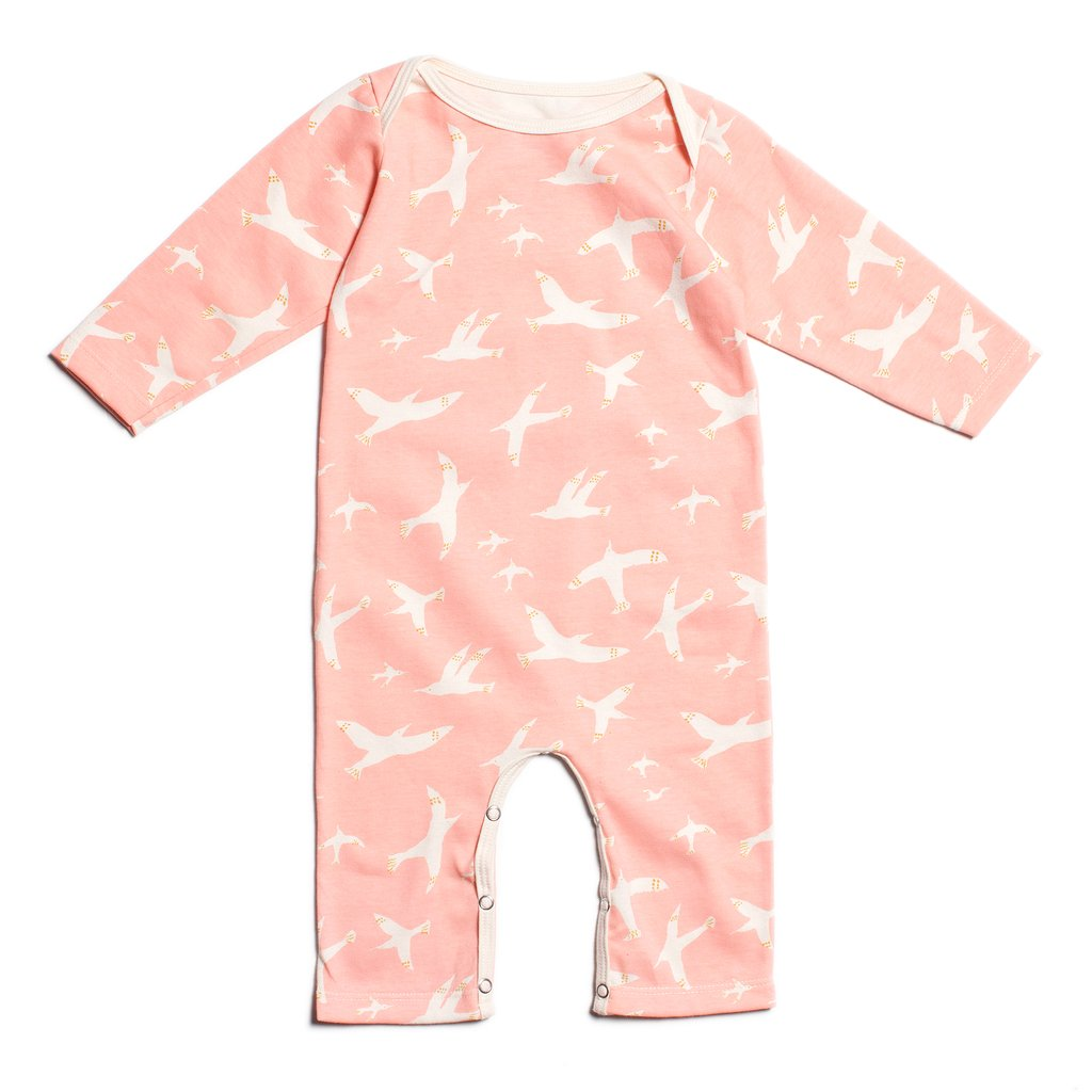 Skybirds Blue Pink Long-Sleeve Romper