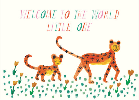Mummy Leopard Greeting Card