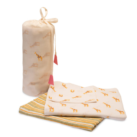 Cotton Giraffe Swaddle Set