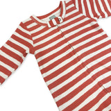 Red & White Stripe Footie