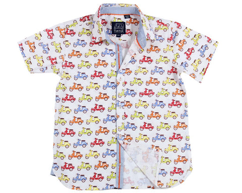 Zippy Scooters Shortsleeve Button Down