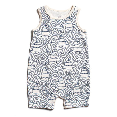 High Seas Navy Tank-Top Romper