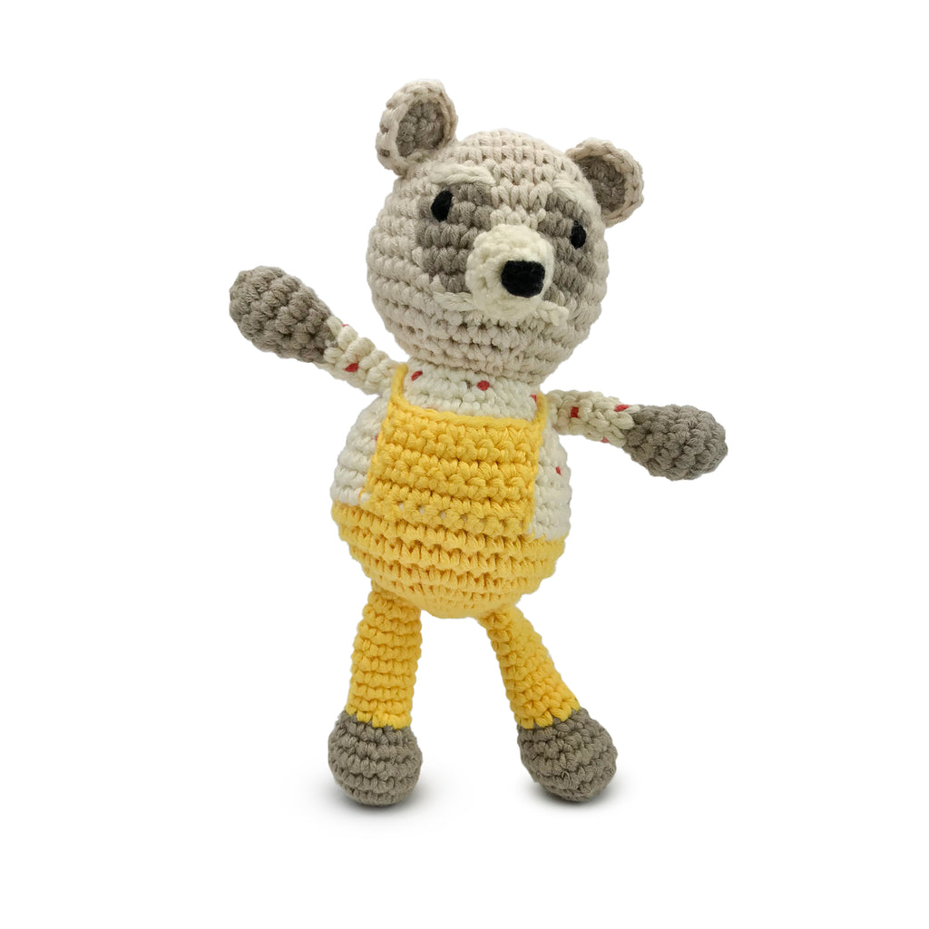 Emily Winfield Martin Chunky Knit Woodland Raccoon Rattle Buddy